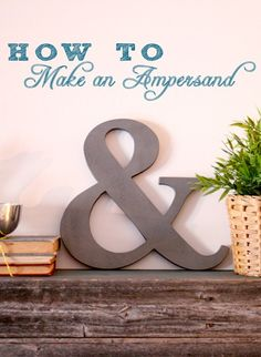 Make an Ampersand Cutout!   Great for decorating, gifts or weddings!