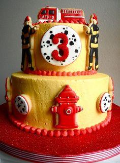 Buttercream Frosted Firefighter Cake