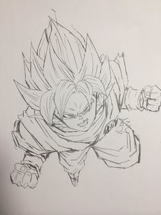 """I won't give up!"" Drawn by: Young Jijii. Found by: #SonGokuKakarot"