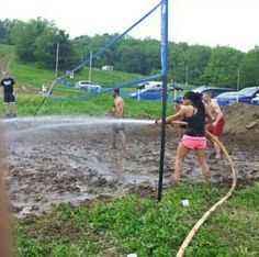 Redneck volleyball... I SHALL ADD THIS TO MY BUCKET LIST.