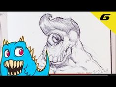 Daily Monster Sketch Journal - Day 6  #sketchmonster #easypicturestodraw   #coolstufftodraw   #howtodrawcoolthings    #funthingstodraw