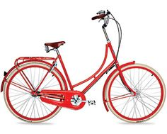 Classic red bike with basket. Bicycle Basket, New Bicycle, Bicycle Women, Ladies Bicycle, Dutch Bike, Retro, Mustang, Ferrari, Porsche