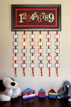 ABCs and 123s Wall Hanging tutorial