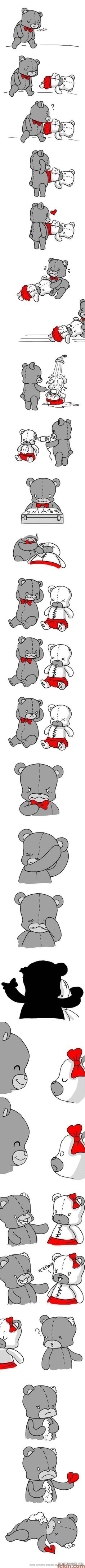 LOL Teddy Bear Love Story. (So Typical)