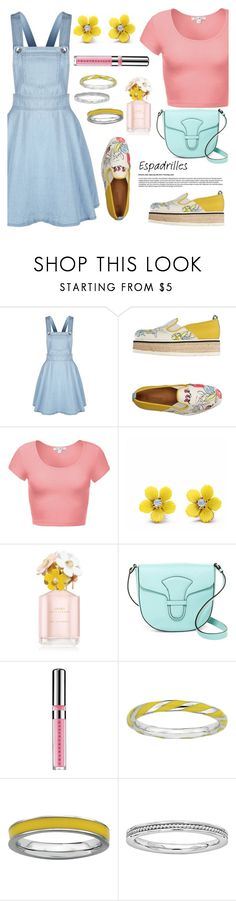 """""""Step into Summer: Espadrilles"""" by the-geek-goddess ❤ liked on Polyvore featuring Dondup, WithChic, Marc Jacobs, Via Spiga and Chantecaille"""