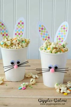 Lovely bunny cups