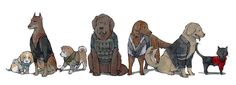 Resident Evil 6 characters as dogs by Natascha
