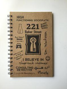 Sherlock Sherlock Notebook 221 Baker Street by MisterScribbles