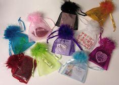5 x 7 Fluffy Top Chiffon Organza Bags Dozen Pack Organza Bags, Chiffon Tops, Wedding Favors, Bridal Shower, Packing, Pouch, Gift Wrapping, Spa, Prints