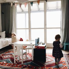 A Lovely Journey, House Tours, Modern, Kids Rugs, Curtains, Furniture, Home Decor, Bright Nursery, Small Dresser