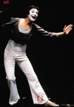 Marcel Marceau, Goodwill Ambassador for the United Nations Second World Assembly on Ageing (Madrid, Spain, April Mime Marceau, Art Of Silence, Mime Artist, Bennett Cerf, Sideshow Freaks, Dark Circus, George Burns, Send In The Clowns, Dramatic Arts