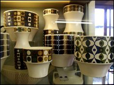 John Clappison 60s pottery for Hornsea (ever wonder where Orla Kiely gets her inspiration - amongst other places) Simon_K via Flickr.