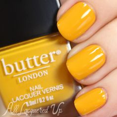 Butter LONDON Fall 2014 Brick Lane Collection Swatches LaneColor YellowColourButter London SwatchesButter Nail PolishMustard
