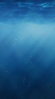 Pure Blue Sunlight Undersea #iPhone #5s #Wallpaper