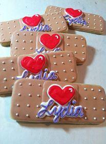Doc McStuffins Band-Aid Cookies KJ Cookies www.kjcookies.weebly.com