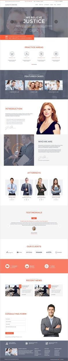 Harvey and specter is modern and unique design premium #Muse #template for #Lawyer or Law firms website download now➩  https://themeforest.net/item/harvey-specter-law-firm-muse-template/18604608?ref=Datasata
