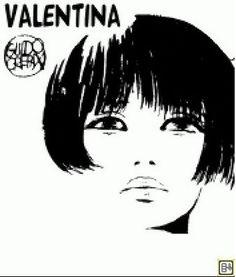 Valentina, con la celebre forma di Guido Crepax.    Coco e l'Istrione