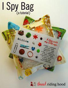 Thread Riding Hood - I Spy Bag Tutorial