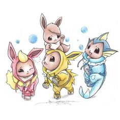 Check Out These Adorable Pokémon in Onesies - Cheezburger