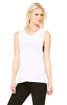10ff8c60dfc77 Bella+Canvas B8803 Ladies  Flowy Scoop Muscle Tank - JiffyShirts.com Muscle  Tees