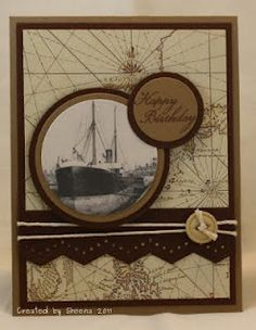 KanataNewf: Masculine card.  Use the ship from The Open Sea stamp set.