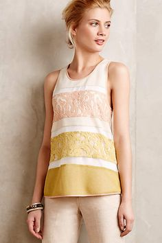 Laced Knit Tank - anthropologie.com