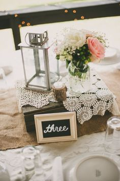blush pink rustic wedding table setting