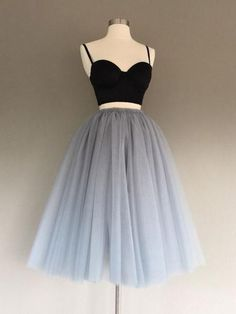Two Pieces Homecoming Dress Black and Silver Short Prom Dress Party Dress JKS062 #diypartydecorationsboho