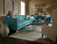Beautiful Sectional, Great Color - Milwaukee Living Room Furniture