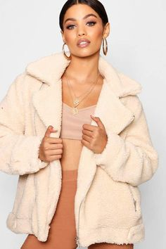 79600496b2a Teddy Faux Fur Aviator What's Trending In Fashion, Cream Coat, Plastic  Raincoat, Nordstrom