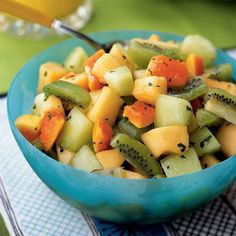 Fruit Salad with Citrus-Mint Dressing Recipe by Cooking Light | Maypurr