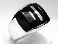925 Sterling Silver Men's Ring Elegant Design