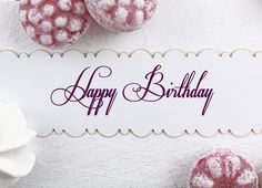 Stempel - Happy Birthday - ca. 90 x 28 mm
