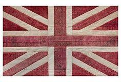Union Jack Overdyed Rug