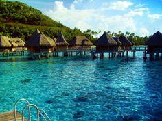 French Polynesia... #polynesia #huts