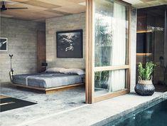 46 Minimalist Master Bedroom Design Trends Ideas - About-Ruth Master Bedroom Design, Home Bedroom, Bedroom Decor, Bali Bedroom, Bedrooms, Garden Bedroom, Interior Architecture, Interior And Exterior, Casa Hotel