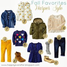 Fall Favorites {Harper Style} toddler fashion, fall clothes for toddlers