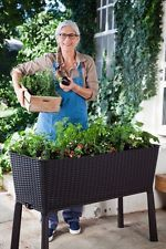 Large Planter Box Rectangle Tall Strawberry Raised Self Watering Patio Vegetable