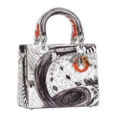 Last year, Dior collaborated with 7 artists for customized Lady Dior bags, and they were met with high acclaim. Now, Dior has decided to continue the progra It Bag, Christian Dior, Sac Lady Dior, Diana, Gucci, Dior Fashion, White Handbag, Jimmy Choo Shoes, Louis Vuitton Handbags