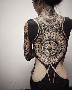 Amazing mandala full back tattoo - 100 Awesome Back Tattoo Ideas