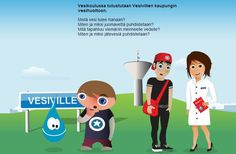 Vesikoulu - mistä vesi tulee? Science Art, Science And Nature, Environment, Family Guy, Education, School, Water, Fictional Characters, Geo