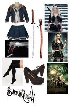 """Babydoll (Sucker Punch) Inspired"" by smartypantz96 ❤ liked on Polyvore featuring Zone and Falke"