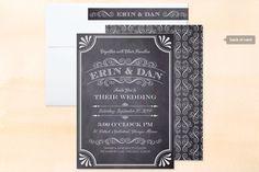 A Chalkboard Marriage Wedding Invitations personalizável $2,34 cada