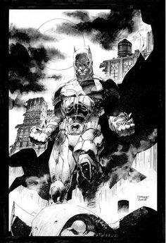 The Dark Knight//Other Art/Jim Lee/ Comic Art Community GALLERY OF COMIC ART