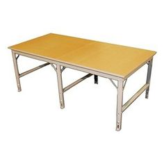 """Production Table, Starter, Hardboard, 96x42 by Phillocraft. $817.57. Work Table, Leg Type Adjustable Height Straight, Workbench Assembly Unassembled, Material 12 ga. Steel, Work Surface Material Hardboard, Width 96 In., Depth 42 In., Height 33-3/8 to 36-3/4 In., Edge Type Straight, Top Thickness 1 In., Putty, Finish Electrostatic Baked-On Epoxy, Load Rating 100 lb. Per Sq Ft Production TablesTable tops are 1""""-thick hardboard or laminate over a high-density flak..."""