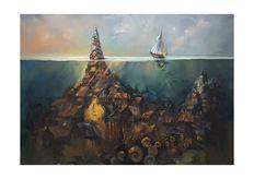 Catawiki online auction house: Andrzej Gudanski - Underwater world William Turner, Underwater World, Giclee Print, Auction, Artist, House, Painting, Beautiful, Home