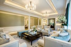 European Style Ceiling Decoration Effect Picture   Living Room