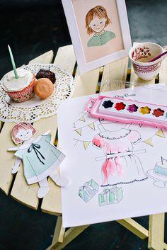 Paper doll birthday playmate   Bibliosophy Handmade   100 Layer Cakelet