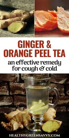 Ginger is an effective and tasty kitchen remedy for respiratory infections. Find out about the many benefits of ginger tea for colds and the best way to make ginger tea. This recipe adds optional orange peels for cough and congestion-busting. #naturalremedies #gingertea #orangepeel #coughremedies #gingerbenefits Ginger Tea For Cold, Ginger Root Tea, Cough Remedies, Herbal Remedies, Tea For Colds, Growing Ginger, Health Benefits Of Ginger, Green Living Tips, Tasty Kitchen