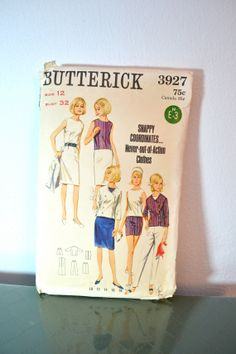 1960s Vintage Butterick Pattern 3927 Quick N by TabbysVintageShop, $10.00
